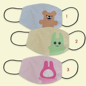 Masker kain filter non medis lucu anak dewasa- karakter polkadot