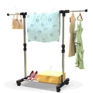 Stand Hanger Single Jemuran Baju Portable With 4 Roda Serbaguna -Murah