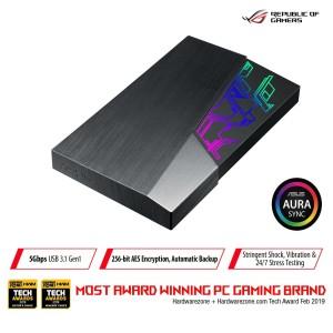 """ASUS FX 2TB External HDD/ Hardisk 2.5"""" USB 3.1 Gen1 with Aura Sync RGB"""