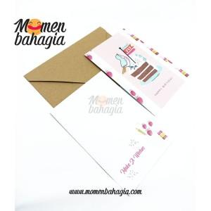 Kartu Ucapan Ulang Tahun Murah - Birthday Greeting Card + Amplop 006