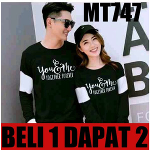 SWEATER COUPLE/SWEATER PASANGAN/JAKET COUPLE FOREVER YOU & ME - Hitam