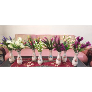 Bunga Artificial - Bunga Plastik Hias Dengan Vas Keramik