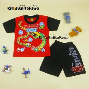 Setelan Rafa uk 1-2 Tahun / Kaos Karakter Celana Pendek Baju Harian