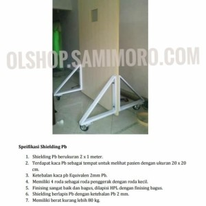 Pelindung Radiasi Pintu Shielding Timbal PB Portable X-ray Rumah Sakit