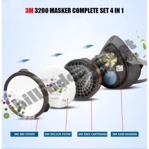 Masker 3M 3200 Respirator + Cartridge 3301CN + Filter 3N11CN
