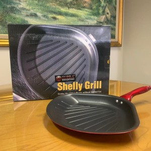 SUPRA Shelly Grill pan wajan kuali alat goreng teflon anti lengket