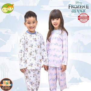 2 Stell Velvet Piyama Bamboo Cotton Series Frozen Girl 2 sd 6 Tahun