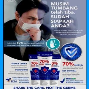 Hand Sanitizer FACEART BPOM Ori Hand Gel Anti Bakteri Virus Kuman Hand