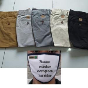 Celana Panjang Katun Tebal Wash Chino/pria/laki/wanita/katun HR 803