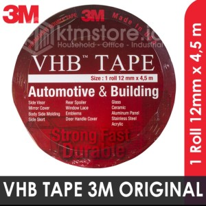 3M Original VHB Double Sided Tape 1.2 mm x 4.5 m Lem Perekat