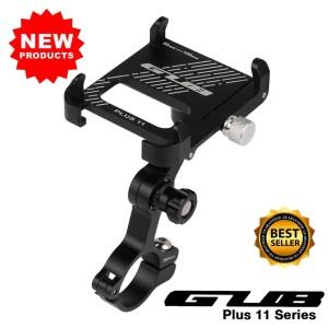 GUB Plus 11 holder hp sepeda alumunium alloy rotation 360