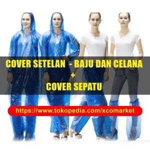 Jas Hujan Setelan Baju + Celana + Cover Sepatu = 1 Set