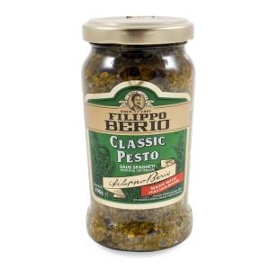 FILIPPO BERIO Classic Pesto 190gr - Pasta Sauce Italian Basil