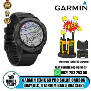 Garmin Fenix 6x Pro Solar Carbon Gray DLC Titanium Band Bracelet