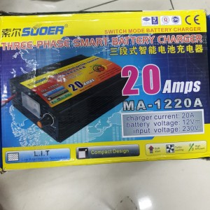 SUOER MA-1220A SMART BATTERY CHARGER / CHARGER AKI