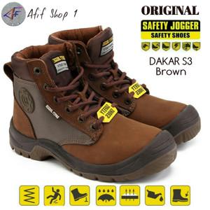 Joger Dakar Brown Coklat Casual Sporty / No:38-43 Sepatu Safety Shoes
