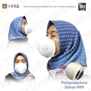 Xiaomi Mask Purely Anti dust PM2.5 Air Gas Protection Respirator