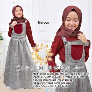 Gamis Overall Anak Tanggung/Baju Muslim Anak Perempuan-kids mirwen