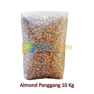 10kg Kacang Almond Panggang Kupas Blue Diamond Roasted