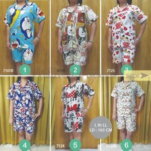 Piyama Celana Pendek L-LL HP Katun Jepang Baju Tidur PROMO SALE