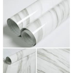 WHITE MARBLE PREMIUM GLOSSY WALLPAPER 60CMX5METER