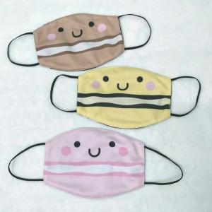 Masker kain filter non medis lucu anak dan dewasa- Macarons 1