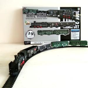 Mainan Rail King Kereta Api 19 Pieces Ukuran Besar