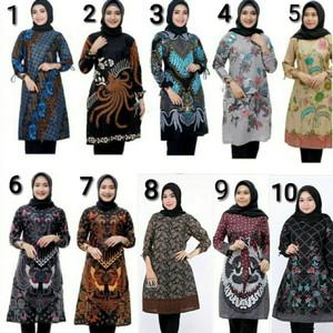 blus batik atasan batik wanita batik blous baju kantor blouse
