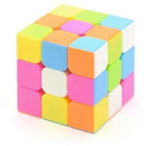 Rubik 3x3 Yongjun Magic Cube Stickerless Pink / Speedcube