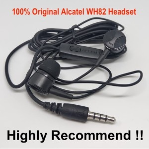Original Alcatel WH82 Headset With Mic Real HiFi Bass Earphone