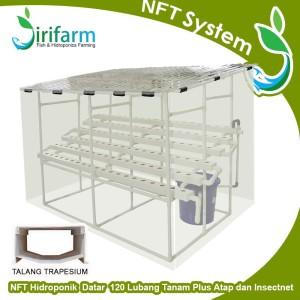 Paket Tanam Hidroponik NFT 2 Meter 120 LT w/ Solartuff Plus Insectnet