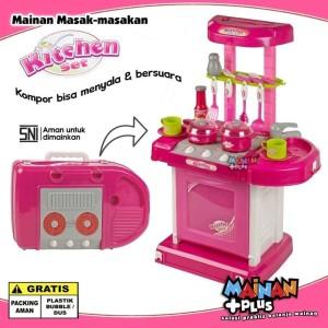 Mainan Anak Perempuan Masak masakan - Kitchen Set Dapur Koper - Besar