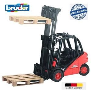 Bruder 02511 Linde Fork Lift H30D with 2 Pallets Made in Germany