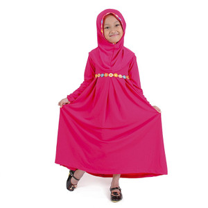 Bajuyuli Gamis Anak Perempuan Renda Bunga Cantik - S* Series