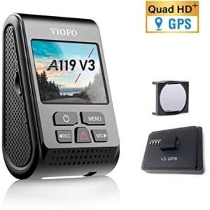 VIOFO A119 V3 2K Car DashCam Super Night Vision Quad HD with GPS