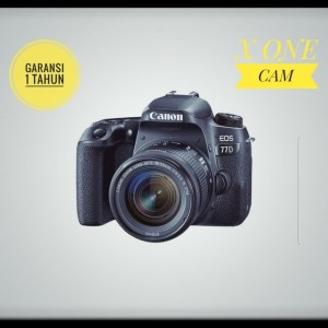 Kamera Canon eos 77D kit 18-55mm stm f/3.5-5.6 - Hitam