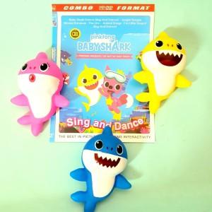 Mainan Baby Boneka Karet Bunyi Baby Shark - Mainan Anak Balita Lucu