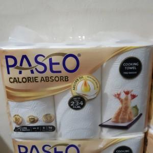 PASEO Tisu Dapur Calorie Absorb isi 3 ROLL - Cocok untuk Dapur
