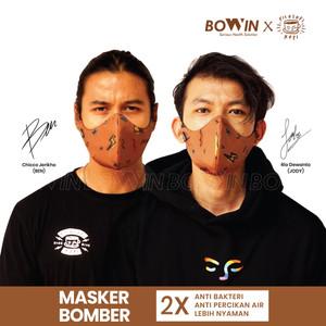 [Bowin X Rio Dewanto] Masker Bomber (Masker Kain 4ply / Masker Motor) - BOWIN X FILKOP