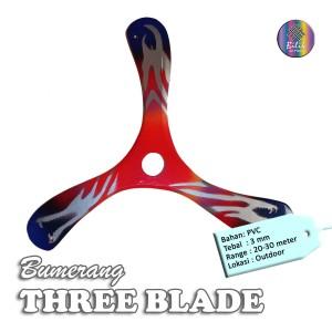 Mainan Tradisional Bumerang Boomerang THREE BLADE Outdoor Long Range