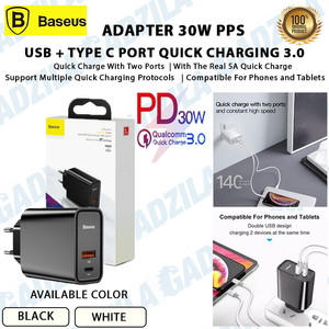 Adaptor BASEUS Charger Quick Charge 4.0 / PD 3.0 / VOOC 30W 5A