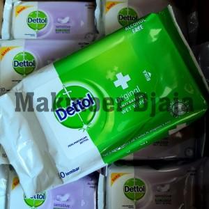 Dettol Wet Wipes 50 lembar Original Tissue Tisu Basah