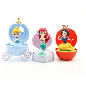 Ariel Cinderella Snow White Capchara Gashapon Figure Disney Princess