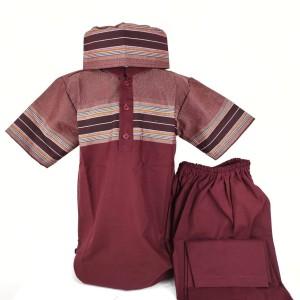 KOKO ANAK Setelan Celana Lengan Pendek Merah Usia 5 6 7 8 9 10 tahun