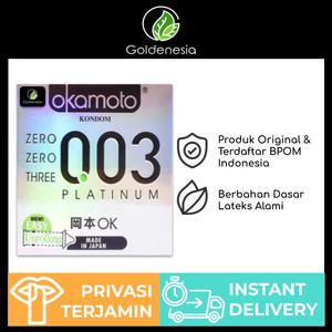 Kondom okamoto 003 (0.03) platinum isi 3 pcs