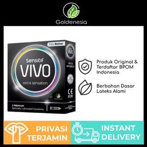 Kondom VIVO Extra Sensation Isi 3 Pcs Original