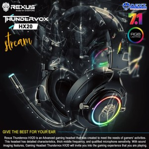 Rexus Thundervox HX20 RGB USB 7.1 Gaming Headset