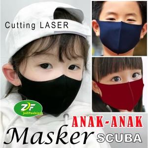 Masker SCUBA Korea - Cutting LASER - Ukuran ANAK - Tebal Gramasi 280
