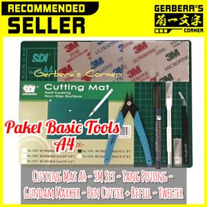 Paket Basic Tools A4 - Tang - Marker - Matt - Tweezer - Pen Cutter