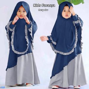Kids Farasya /Gamis Anak Perempuan/ Baju Muslim Anak Terbaru